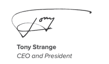 Tony Strange, CEO and President