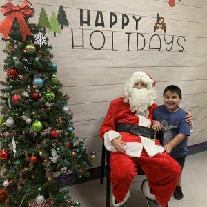 Read Article Santa Visits Aveanna's Garland Clinic