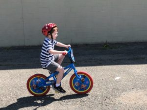 Rory riding his bike
